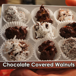 Image about Chocolate Covered Walnuts | Bazilian